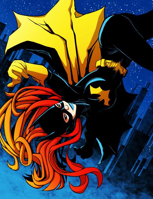 Jumping Batgirl