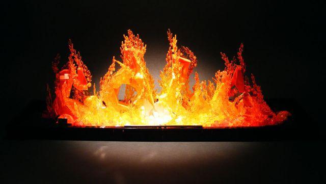 burning lego
