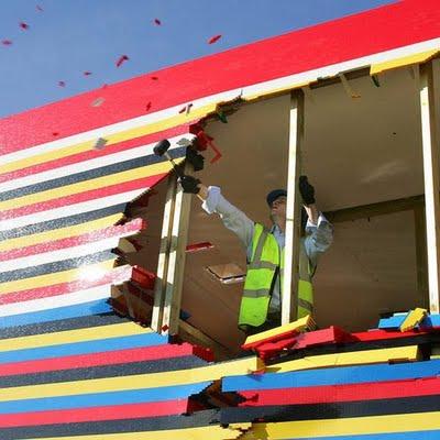 Lego House Goes Boom