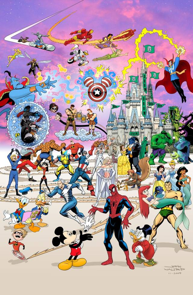 Marvel-Disney Meger Art