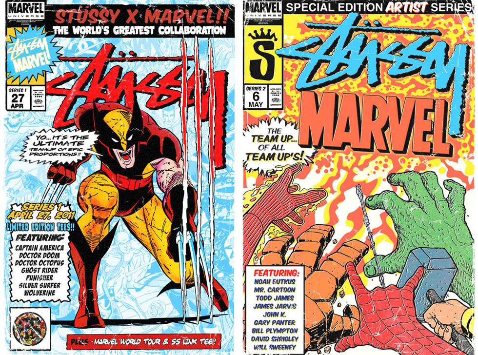 Marvel on Stussy