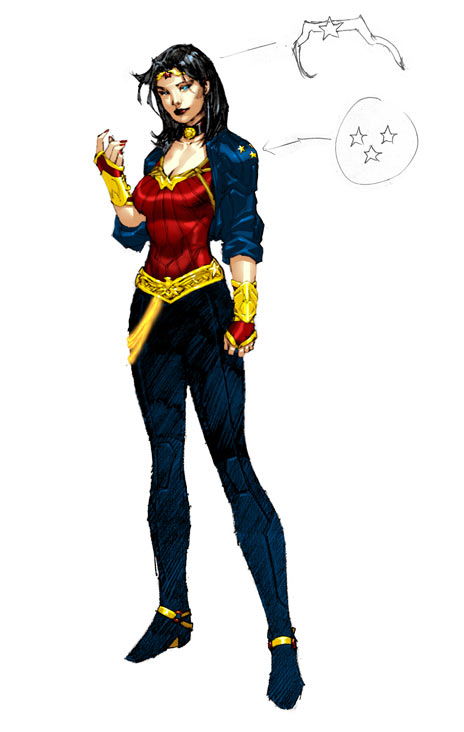 Wonder Woman's new costume by Jim Lee